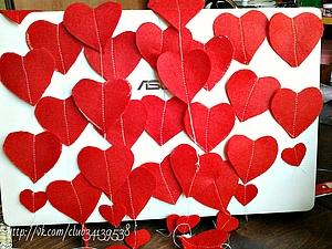 Гирлянда из фетровых сердечек.   Ярмарка Мастеров - ручная работа, handmade