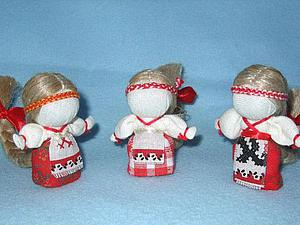 Создаем куколку «На счастье» в традиционной текстильной народной технике | Ярмарка Мастеров - ручная работа, handmade