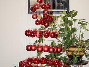 Создаем парящую елочку из шариков | Ярмарка Мастеров - ручная работа, handmade
