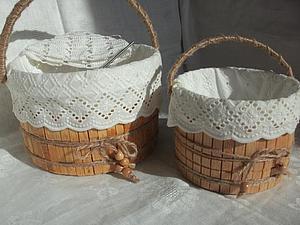 Изготовление корзинки для рукоделия. Ярмарка Мастеров - ручная работа, handmade.
