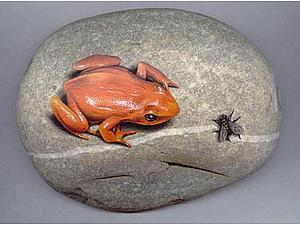 Роспись камней в стиле гиперреализма | Ярмарка Мастеров - ручная работа, handmade