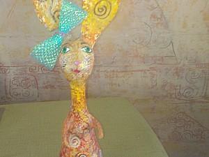 Зайчишка-трусишка - мастер-класс папье-маше Татьяны Молодой - урок № 2. Ярмарка Мастеров - ручная работа, handmade.