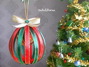 Простые новогодние шарики своими руками. Ярмарка Мастеров - ручная работа, handmade.