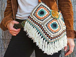 a675042dcb30 Вязаные сумки: богатство фантазии дизайнеров | Ярмарка Мастеров - ручная  работа, handmade