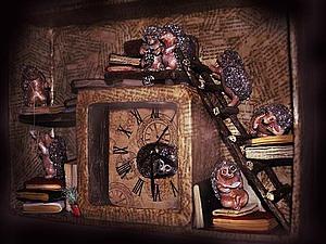 Часы «Книжные ежи» своими руками. Ярмарка Мастеров - ручная работа, handmade.