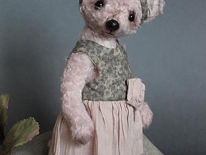 Мишкодевочка в платье по авторской выкройке   Ярмарка Мастеров - ручная работа, handmade