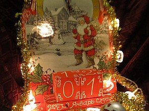 Новогодние часы-календарь