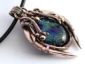 Делаем кулон «Сокровища Зергов» в технике wire wrap. Ярмарка Мастеров - ручная работа, handmade.