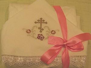 Мастер-клас: крестильная пеленка с вышитым капюшоном. Ярмарка Мастеров - ручная работа, handmade.