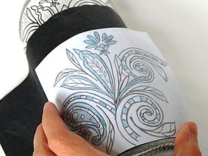 Перенесение рисунка на стекло. Ярмарка Мастеров - ручная работа, handmade.