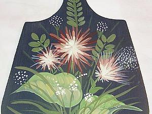 Роспись по дереву. Рисуем цветок «астра». Ярмарка Мастеров - ручная работа, handmade.