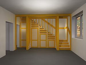 Шкаф под лестницей | Ярмарка Мастеров - ручная работа, handmade