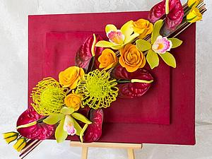 Цветы в интерьере. Настенное панно с цветами. | Ярмарка Мастеров - ручная работа, handmade