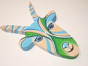 Деревянная  КОЗА - символ 2015 года! | Ярмарка Мастеров - ручная работа, handmade