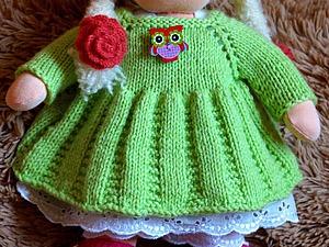 Вяжем платье для куклы. Ярмарка Мастеров - ручная работа, handmade.