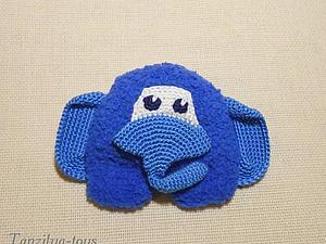 Как связать крючком брошь в виде слоненка | Ярмарка Мастеров - ручная работа, handmade