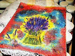 Декупаж на ткани +батик.   Ярмарка Мастеров - ручная работа, handmade