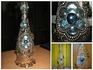 Создание хрустальной сказки (роспись стеклянной бутыли). Ярмарка Мастеров - ручная работа, handmade.