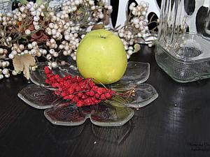 Делаем блюдо с декором из сухих листьев. Ярмарка Мастеров - ручная работа, handmade.