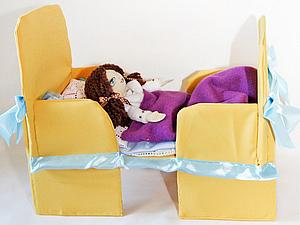 Кроватка для Брэда и Кобато. | Ярмарка Мастеров - ручная работа, handmade