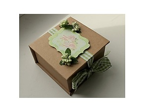 Очаровательная подарочная упаковка в технике скрапбукинг | Ярмарка Мастеров - ручная работа, handmade
