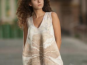 Платье кокон. Уютная мода подиума своими руками. Валяем сами | Ярмарка Мастеров - ручная работа, handmade