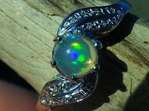 Аукцион! Кольцо с великолепным опалом, серебро 925! | Ярмарка Мастеров - ручная работа, handmade