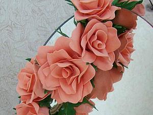МК повязка для волос с цветами из фоамирана