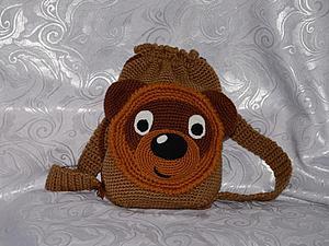 Вяжем крючком  детский рюкзак «Винни-Пух». Часть 1. Ярмарка Мастеров - ручная работа, handmade.