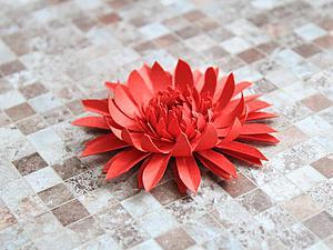 Делаем герберу из бумаги   Ярмарка Мастеров - ручная работа, handmade