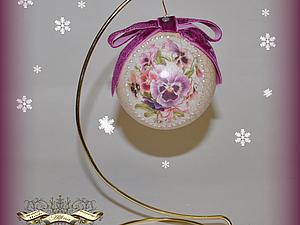 Мастер-класс по декорированию елочных шаров.. Ярмарка Мастеров - ручная работа, handmade.