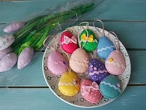 Как сделать простые пасхальные сувениры из фетра | Ярмарка Мастеров - ручная работа, handmade
