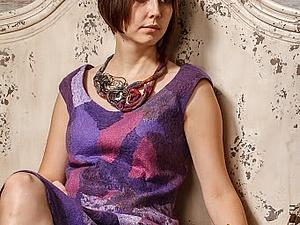 Летний войлок! Платье/туника/топ в технике нуно-фельт! | Ярмарка Мастеров - ручная работа, handmade