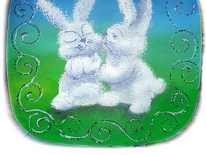 """Роспись шкатулки """"Пасхальные кролики"""". Ярмарка Мастеров - ручная работа, handmade."""
