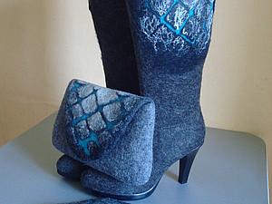 Комплект-сапожки,клатч,шейное украшение | Ярмарка Мастеров - ручная работа, handmade