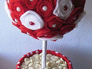 Деревце из розочек | Ярмарка Мастеров - ручная работа, handmade