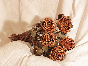 Букет медных роз, handmade