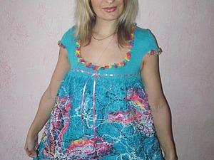 Создание платья «Бирюзовая мечта» в технике крейзи-вул. Ярмарка Мастеров - ручная работа, handmade.