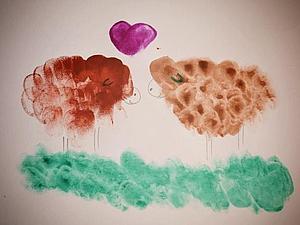 Мастер-класс: Рисуем пальчиками с детьми. Ярмарка Мастеров - ручная работа, handmade.
