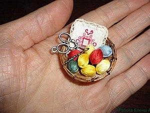 Кукольная миниатюра.Клубочки.. Ярмарка Мастеров - ручная работа, handmade.