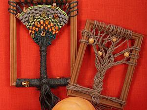 Плетём деревья в рамках. Ярмарка Мастеров - ручная работа, handmade.
