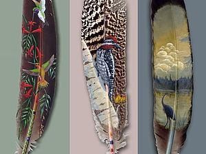 Живопись на перышках | Ярмарка Мастеров - ручная работа, handmade