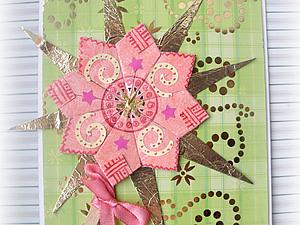 Цветок-оригами для скрапбукинга. Ярмарка Мастеров - ручная работа, handmade.