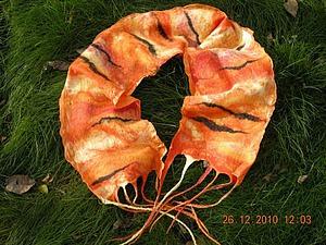 Нуно-шарфик «Полосатый рейс». Ярмарка Мастеров - ручная работа, handmade.