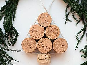 Елочка на елку из винных пробок | Ярмарка Мастеров - ручная работа, handmade