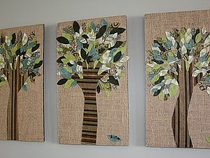 Аппликация из ткани своими руками  от Kalleen | Ярмарка Мастеров - ручная работа, handmade