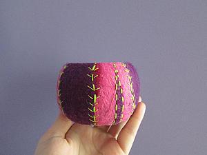 Делаем оригинальные браслет в технике валяния на каркасе. Ярмарка Мастеров - ручная работа, handmade.