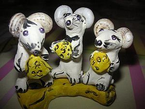 """Лепим забавную композицию """"Мыши в сыре"""". Ярмарка Мастеров - ручная работа, handmade."""