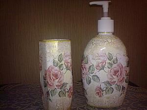 Набор для ванной комнаты своими руками. Ярмарка Мастеров - ручная работа, handmade.