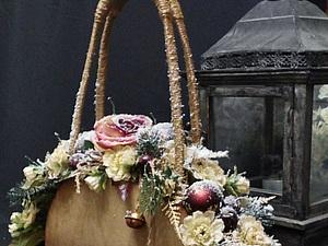 "МК "" Новогодняя сумочка "". Ярмарка Мастеров - ручная работа, handmade."